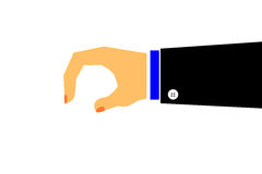 Vector of Hand - Holding Something Royalty Free Stock Photo