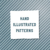 Vector hand-illustrated seamless texture. Royalty Free Stock Image