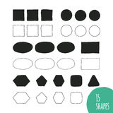 Vector hand illustrated shapes Stock Photos