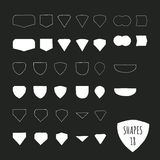 Vector hand illustrated shapes Royalty Free Stock Photos