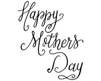 Vector Hand Lettered Nib Pen and Black Ink Happy Mother`s Day Phrase. royalty free illustration