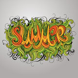 Vector hand lettering illustration Royalty Free Stock Photo