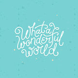 Vector hand lettering poster in linear style Stock Photography