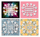 Vector hand made label Royalty Free Stock Photography