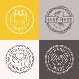 Vector hand made labels and badges Royalty Free Stock Photos