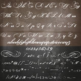 Vector hand made script font in vintage Victorian style Royalty Free Stock Photo