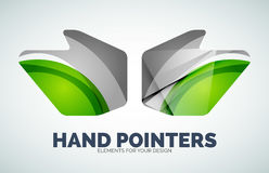 Vector hand mouse pointer Stock Image