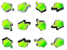 Vector hand mouse symbol Stock Photography