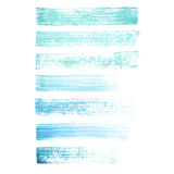 Vector hand painted blue and turquoise grunge brush strokes textures. Vector hand painted blue and turquoise grunge brush strokes isolated on the white royalty free illustration