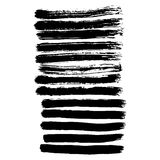 Vector hand-painted ink illustration with brush strokes. Abstract background. vector illustration