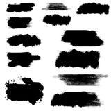 Vector Hand Painted isolated grunge black paint brush splash on white background royalty free illustration