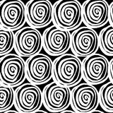 Vector hand-painted seamless pattern with ink circles. Abstract background Stock Photo