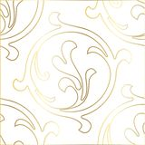 Retro pattern antique style acanthus. Seamless pattern. Vector hand-painted vintage baroque ornament stock illustration
