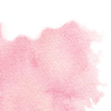 Vector hand painted watercolor pink texture  on the white background. Vector hand painted pink texture  on the white background. Usable for greeting cards Royalty Free Stock Image