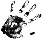 Vector hand print Stock Photo