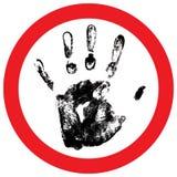 Vector hand print Royalty Free Stock Image