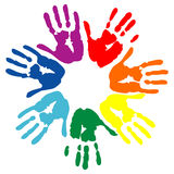 Vector hand prints Stock Photo
