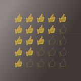 Vector hand rating - five stars, hands. Element for your present Royalty Free Stock Images