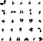 Vector hand silhouette alphabet Royalty Free Stock Photography