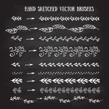 Vector hand sketched brushes. Royalty Free Stock Images