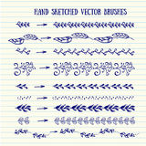 Vector hand sketched brushes. Royalty Free Stock Photography