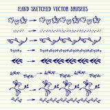 Vector hand sketched brushes. Stock Images