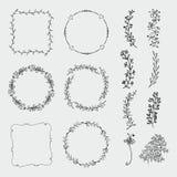 Vector Hand Sketched Frames, Borders, Design stock illustration