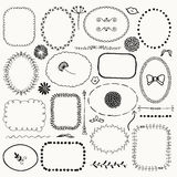 Vector Hand Sketched Rustic Frames, Borders, Elements Royalty Free Stock Images