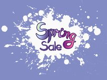 Vector hand sketched Spring Sale Stock Image