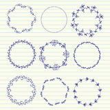 Vector hand sketched wreaths Royalty Free Stock Photo