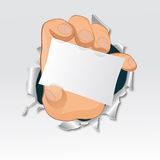 Vector hand, tear paper. Advertise illustration. EPS10 Royalty Free Stock Images