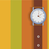 Vector hand watch Royalty Free Stock Photos