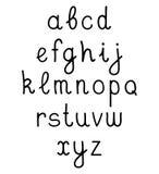 Vector hand written alphabet on white background. Vector hand written alphabet on white background vector illustration