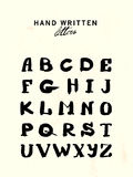 Vector hand written letters. Royalty Free Stock Photography