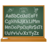 Vector hand written sketchy alphabet on for Your uses Stock Photography