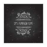 Vector handdrawn autumn element with text Royalty Free Stock Images