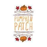 Vector handdrawn autumn element with text Stock Photography