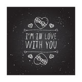 Vector handdrawn badge for Saint Valentines day Royalty Free Stock Photos