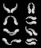 Vector handenpictogrammen Stock Illustratie