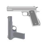 Vector handgun icon. Weapon vector handgun icon. Pistol submachine military safety sniper security revolver icon. Violence firearm police ammunition vector illustration