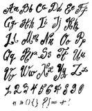 Vector handmade Roman alphabet Stock Photos