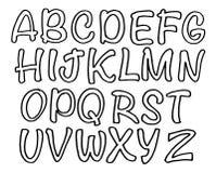 Vector handmade Roman alphabet set. Vector handmade Roman alphabet - free drawn font. Chalk board lettering Stock Photos