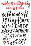 Vector handmade Roman alphabet Royalty Free Stock Photos