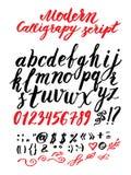 Vector handmade Roman alphabet Stock Images