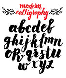 Vector handmade Roman alphabet Stock Image