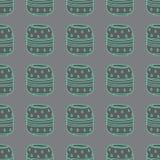 Vector Handmade Vase Pattern Stock Image