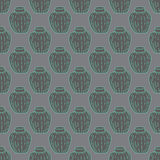 Vector Handmade Vase Pattern Royalty Free Stock Images