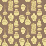 Vector Handmade Vase Pattern Royalty Free Stock Photography