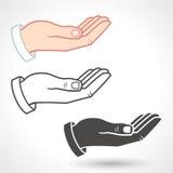 Vector Hands Giving Gesture Stock Photo
