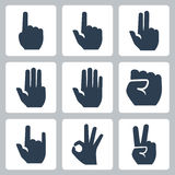 Vector hands icons set Stock Photo